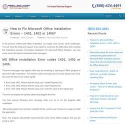Fix Microsoft Office Installation Errors