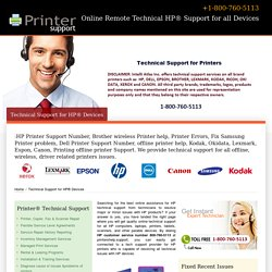 Online Remote Technical HP Support for all Devices - 800-760-5113