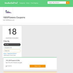 1800flowers coupon and promocodes