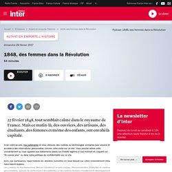 1848, des femmes dans la Révolution - Émission radio