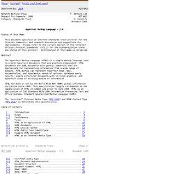 RFC 1866 - Hypertext Markup Language - 2.0