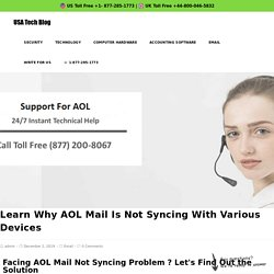 1877-285-1773 AOL Mail Not Syncing With iPad & Windows 10