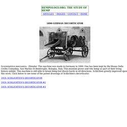 1890 GERMAN DECORTICATOR