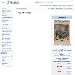 1892 en France