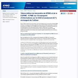 18ème édition du baromètre de KPMG et de la CGPME : 6 PME