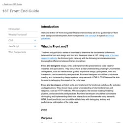 18F Front End Guide
