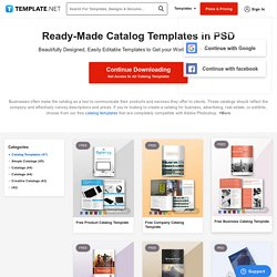 Catalog Templates PSD