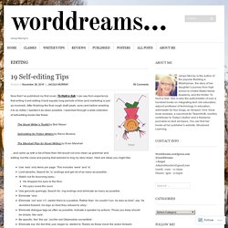 19 Self-editing Tips
