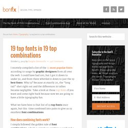 19 top fonts in 19 top combinations