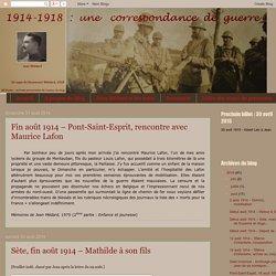 1914-1918 : une correspondance de guerre: août 2014