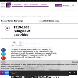1919-1939 : réfugiés et apatrides