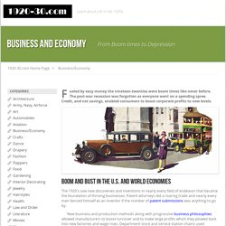 1920's Business and Economy