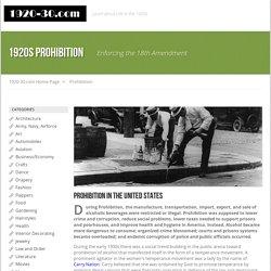 1920's Prohibition