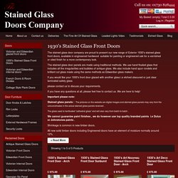 1930's Stained Glass Front Doors
