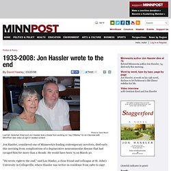1933-2008: Jon Hassler wrote to the end