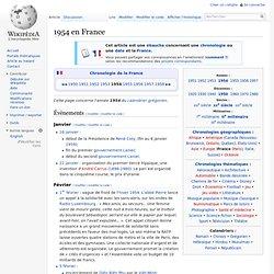 1954 en France