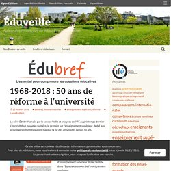 1968-2018 : 50 ans de réforme à l'université
