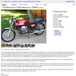 1973 Moto Guzzi V7 Sport Motorcycle