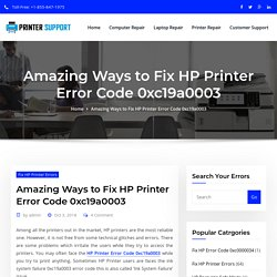 How to Fix HP Printer Error Code 0xc19a0003?
