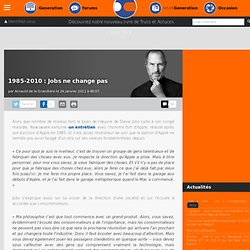 1985-2010 : Jobs ne change pas