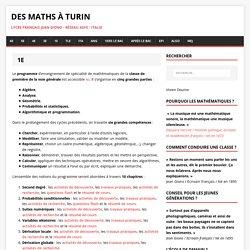 1E – Des maths à Turin