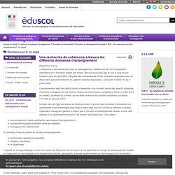 EDD à l'école primaire - Une recherche de cohérence