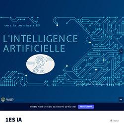 essai sur la notion d'intelligence artificielle