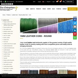 1mm Leather cord