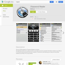 1Password Reader - Apps on Android Market