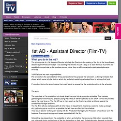 1st AD - Assistant Director (Film-TV)