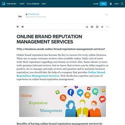 ONLINE BRAND REPUTATION MANAGEMENT SERVICES