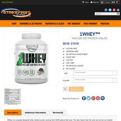 1WHEY: SFN™ - 1WHEY™ - Pasture Fed Protein Isolate