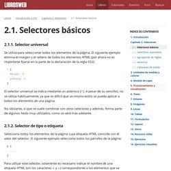 2.1. Selectores básicos