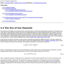2.3 The Zoo of Ion Channels
