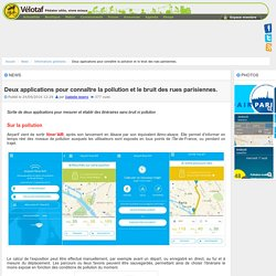 2 applis de mesure de la pollution des rues