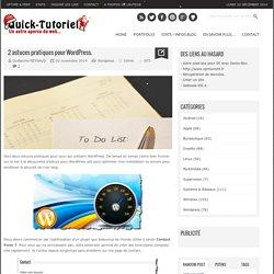 2 astuces pratiques pour Wordpress.
