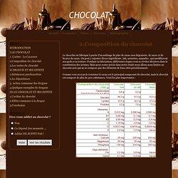 2.Composition du chocolat - chocolat