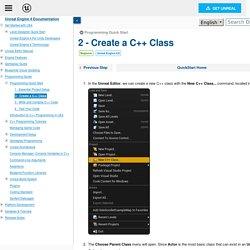 2 - Create a C++ Class