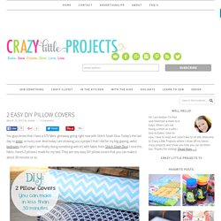 2 Easy DIY Pillow Covers