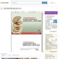 ENTREPRENEUR 2.0 La boîte à outils de compétitivité
