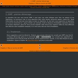2.GIMP: premier démarrage