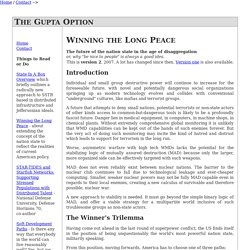 WINNING THE LONG PEACE