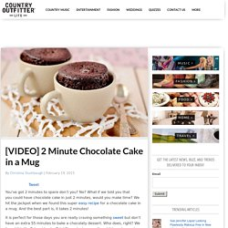2 Minute Chocolate Cake in a Mug