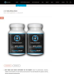 2 x Neurolon Brain supplement