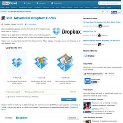 15 Advanced DropBox Hacks & Tips