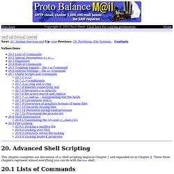 20. Advanced Shell Scripting