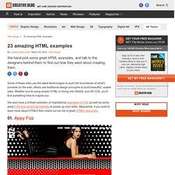 20 amazing HTML examples