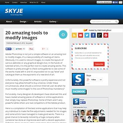 20 amazing tools to modify images