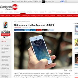 20 Awesome Hidden Features of iOS 9