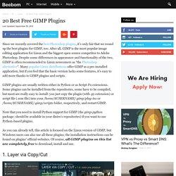 20 Best Free GIMP Plugins (2016)